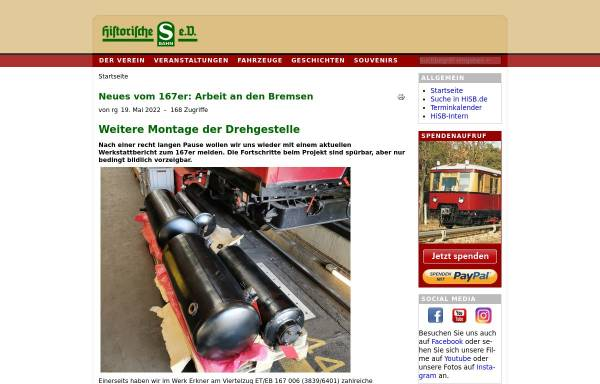 Vorschau von www.hisb.de, Historische S-Bahn e.V.