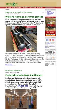 Vorschau der mobilen Webseite www.hisb.de, Historische S-Bahn e.V.