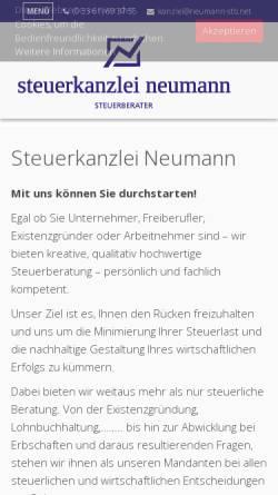 Vorschau der mobilen Webseite www.neumann-stb.net, Steuerkanzlei Neumann - Inh. Jörg Neumann