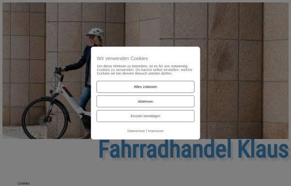 Vorschau von www.fahrradhandel-klaus.de, Fahrradhandel Klaus