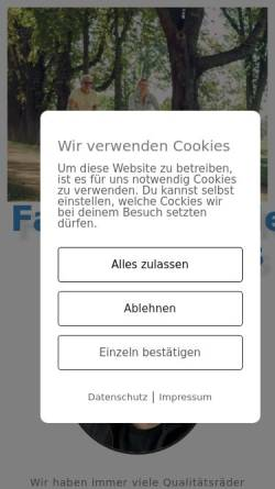 Vorschau der mobilen Webseite www.fahrradhandel-klaus.de, Fahrradhandel Klaus