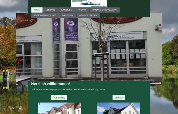 Vorschau von www.immobilienschmidt.de, Norbert Schmidt Hausverwaltung GmbH