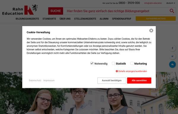 Vorschau von www.gymnasium-neuzelle.de, Gymnasium und Internat im Stift Neuzelle - Wirtschaftsakademie Dr. P. Rahn & Partner GmbH
