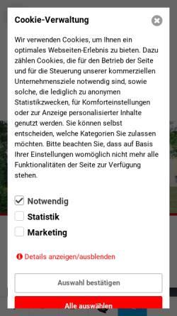 Vorschau der mobilen Webseite www.gymnasium-neuzelle.de, Gymnasium und Internat im Stift Neuzelle - Wirtschaftsakademie Dr. P. Rahn & Partner GmbH