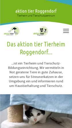 Vorschau der mobilen Webseite tierheim-roggendorf.de, Tierheim Roggendorf