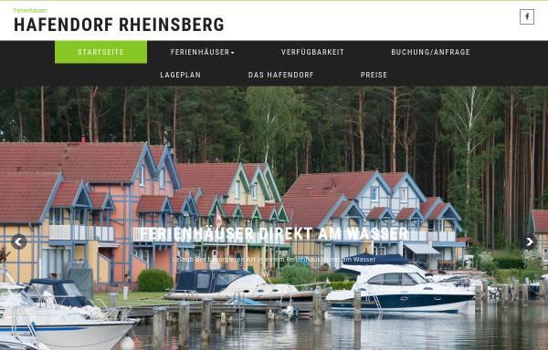 Vorschau von www.rheinsberger-hafendorf.de, Ferienpark Hafendorf Rheinsberg - Mike Focke