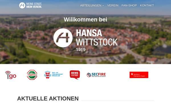 Vorschau von www.fk-hansa-wittstock.de, Fußballverein Hansa Wittstock 1919 e.V.