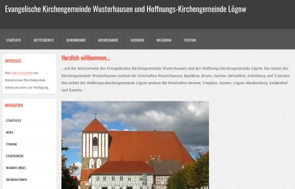 Vorschau von www.kirche-wusterhausen.de, Evangelische Kirchengemeinde Wusterhausen (Dosse)