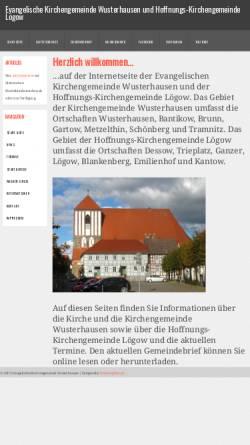 Vorschau der mobilen Webseite www.kirche-wusterhausen.de, Evangelische Kirchengemeinde Wusterhausen (Dosse)