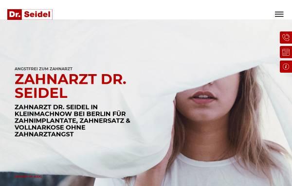 Vorschau von www.zahn-zahnarzt-berlin.de, Zahnarztpraxis für Oralchirurgie Dr. Frank Seidel
