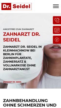 Vorschau der mobilen Webseite www.zahn-zahnarzt-berlin.de, Zahnarztpraxis für Oralchirurgie Dr. Frank Seidel