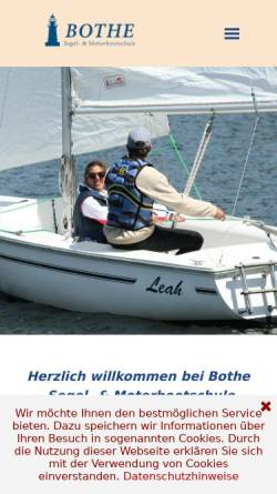 Vorschau der mobilen Webseite www.boote-caputh.de, Bothe-Wassersport - Inh. Andreas Bothe