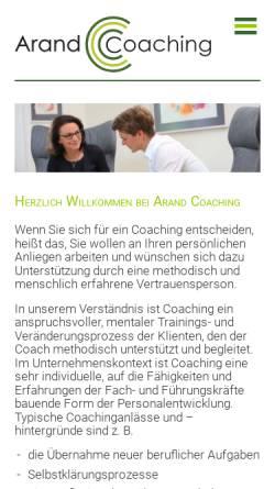 Vorschau der mobilen Webseite www.personalcoaching-potsdam.de, Dr. Steffi Arand Coaching