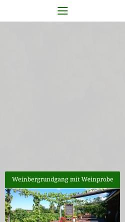 Vorschau der mobilen Webseite weinbau-lindicke.de, Obst- & Weinbau Dr. Manfred Lindicke