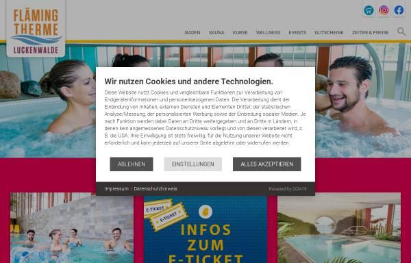 Vorschau von www.flaeming-therme.de, Fläming-Therme Luckenwalde - Aquapark Management GmbH
