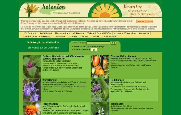Vorschau von www.helenion.de, Gärtnerei helenion - Inh. Mirko Wersin