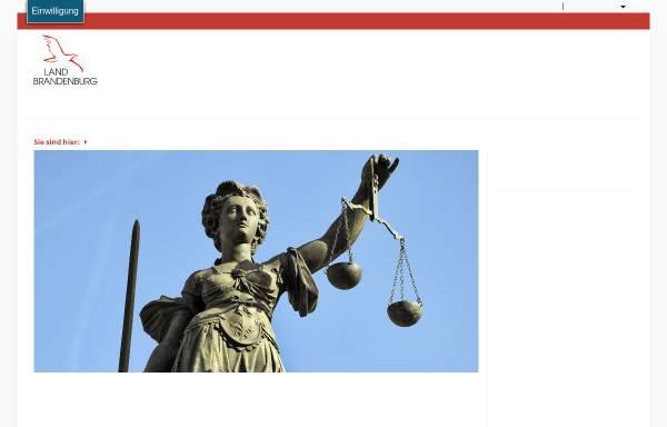 Vorschau von mdjev.brandenburg.de, Gerichte - Ministerium der Justiz und für Europa und Verbraucherschutz (MdJEV)