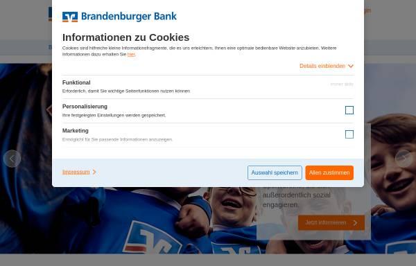 Vorschau von www.brandenburgerbank.de, Brandenburger Bank Volksbank-Raiffeisenbank eG