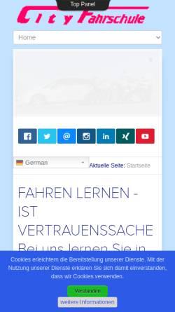 Vorschau der mobilen Webseite www.city-fahrschule-cottbus.de, City Fahrschule Cottbus - Inh. Siegfried Mader