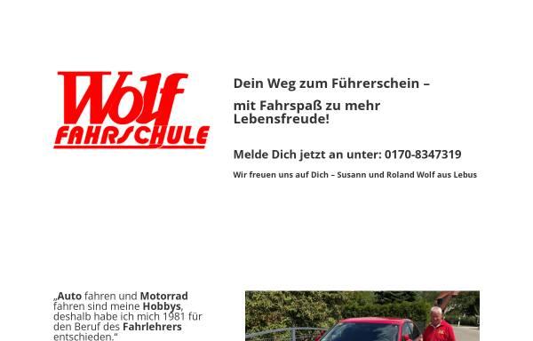 Vorschau von www.wolf-fahrschule.de, Wolf Fahrschule - Inh. Roland Wolf
