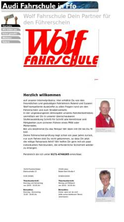 Vorschau der mobilen Webseite www.wolf-fahrschule.de, Wolf Fahrschule - Inh. Roland Wolf