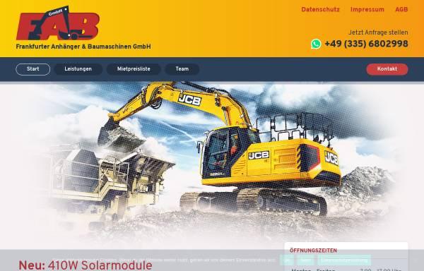 Vorschau von www.fabgmbh.eu, FAB Frankfurter Anhänger und Baumaschinen GmbH