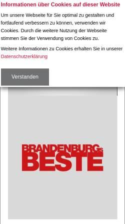 Vorschau der mobilen Webseite www.potsdam.tv, Potsdam TV GmbH