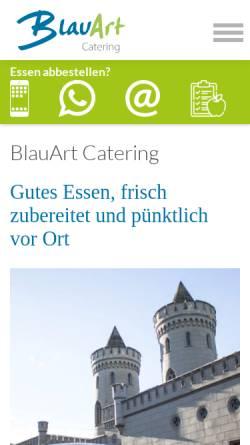 Vorschau der mobilen Webseite www.blauart.de, BlauArt Tagungshaus