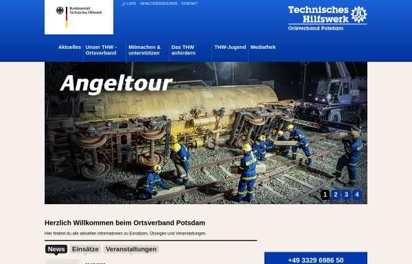 Vorschau von www.thw-potsdam.de, Technisches Hilfswerk - OV Potsdam