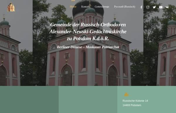 Vorschau von r-o-k.de, Russisch-Orthodoxe Kirche des hl. Alexander Newskij zu Potsdam