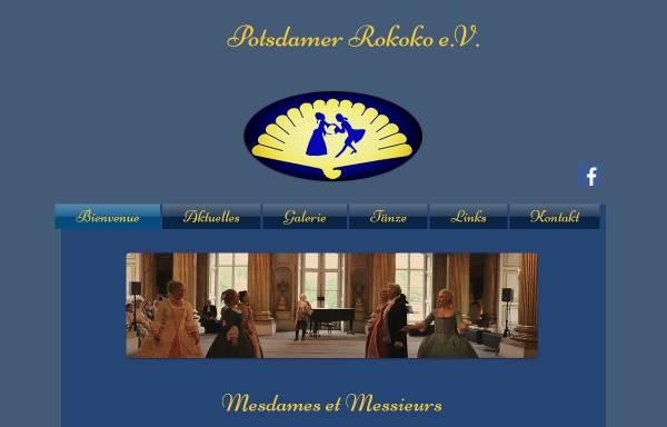 Vorschau von www.potsdamer-rokoko.de, Potsdamer Rokoko e.V.
