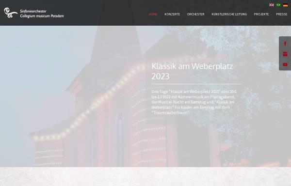 Vorschau von www.cm-potsdam.de, Sinfonieorchester Collegium musicum Potsdam