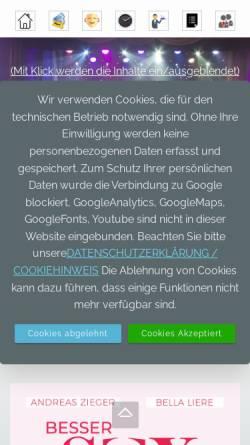 Vorschau der mobilen Webseite www.kabarett-potsdam.de, Kabarett Obelisk - Potsdamer Kabarett Obelisk e.V.