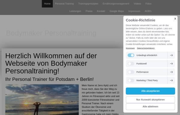 Vorschau von www.bodymaker-potsdam.de, Personal Trainer Potsdam - Bodymaker
