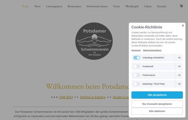Vorschau von www.potsdamersv.de, Potsdamer Schwimmverein im OSC Potsdam