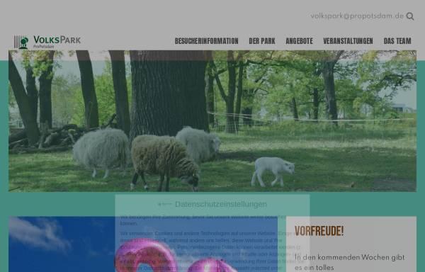Vorschau von www.volkspark-potsdam.de, Volkspark Potsdam - Entwicklungsträger Bornstedter Feld GmbH