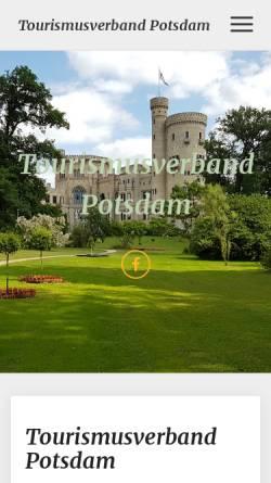 Vorschau der mobilen Webseite www.tourismusverband-potsdam.de, Tourismusverband Potsdam e.V.