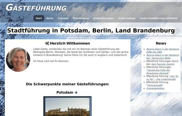 Vorschau von www.potsdam-berlin.de, Gästeführerin Regina Ebert