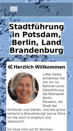 Vorschau der mobilen Webseite www.potsdam-berlin.de, Gästeführerin Regina Ebert