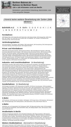 Vorschau der mobilen Webseite www.berliner-bahnen.de, Bahnen im Berliner Raum