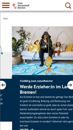 Vorschau der mobilen Webseite www.bildung.bremen.de, Bildung in Bremen
