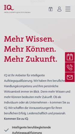 Vorschau der mobilen Webseite www.iq-bremen.de, IQ Bremen