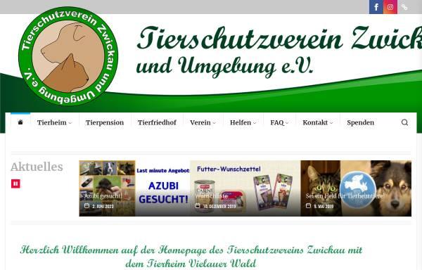 Vorschau von www.tierheim-vielau.de, Tierschutzverein Zwickau u.U. e.V.