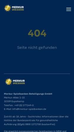 Vorschau der mobilen Webseite www.westspiel.de, Spielbank Bremen