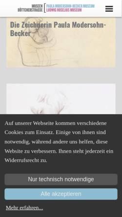 Vorschau der mobilen Webseite www.museen-boettcherstrasse.de, Museen Böttcherstraße