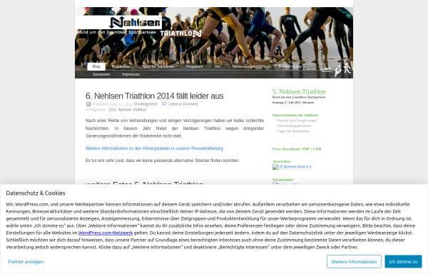 Vorschau von nehlsentriathlon.wordpress.com, Nehlsen-Triathlon