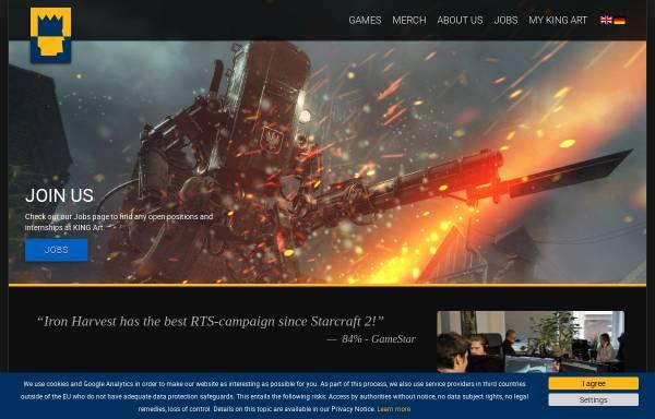 Vorschau von www.kingart-games.de, KING Art GmbH