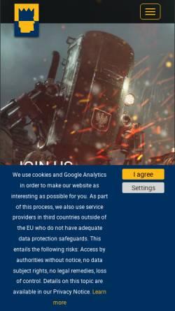 Vorschau der mobilen Webseite www.kingart-games.de, KING Art GmbH