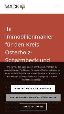 Vorschau der mobilen Webseite immobilien-mack.de, Mack Immobilien