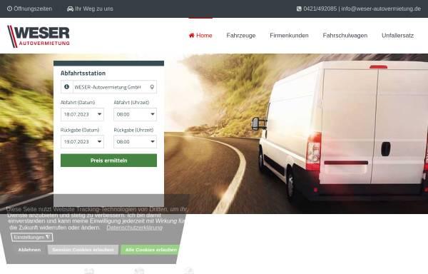 Vorschau von www.weser-autovermietung.de, Weser-Autovermietung Andreas Menzel e.K.